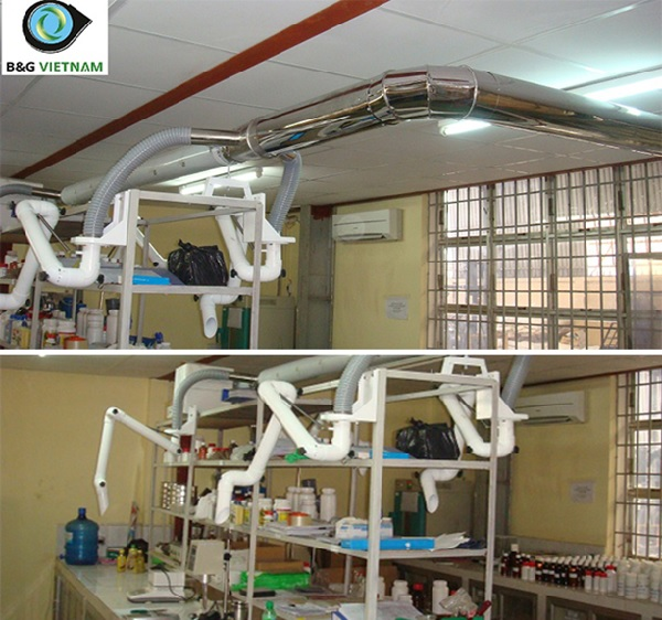 Hệ thống xử lý hơi axit đối với phòng thí nghiệm